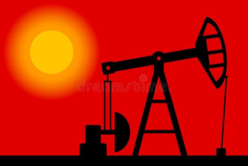 Siluetta della pompa di olio illustrazione di stock