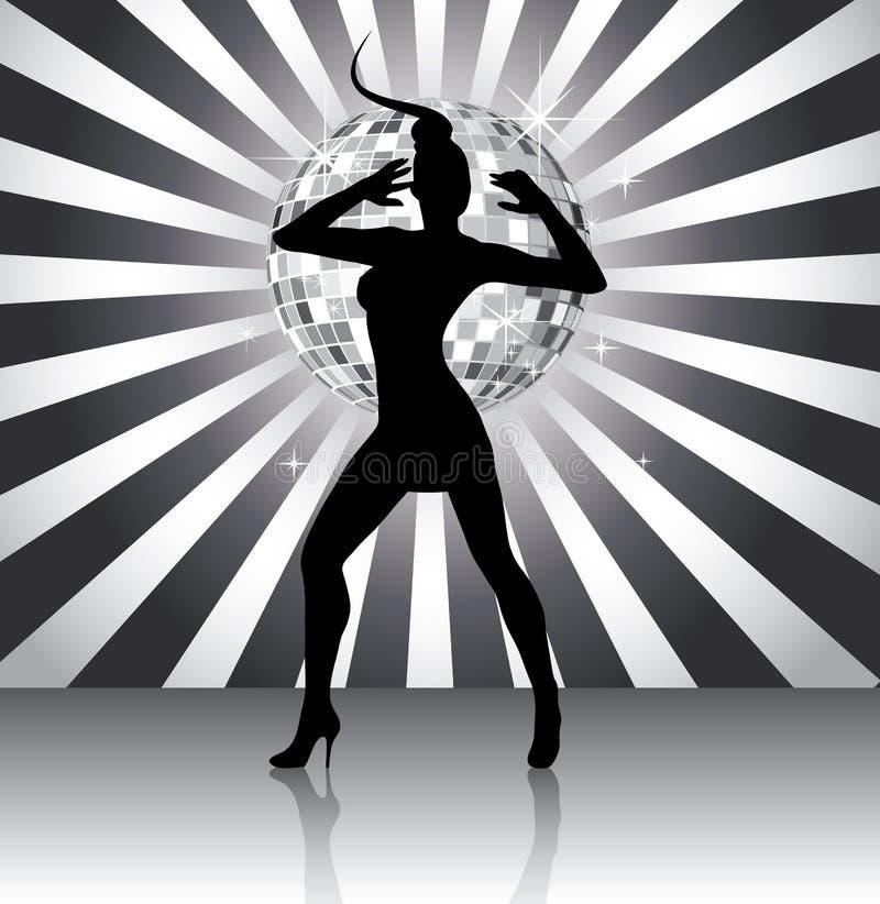 Siluetta della regina della discoteca illustrazione vettoriale