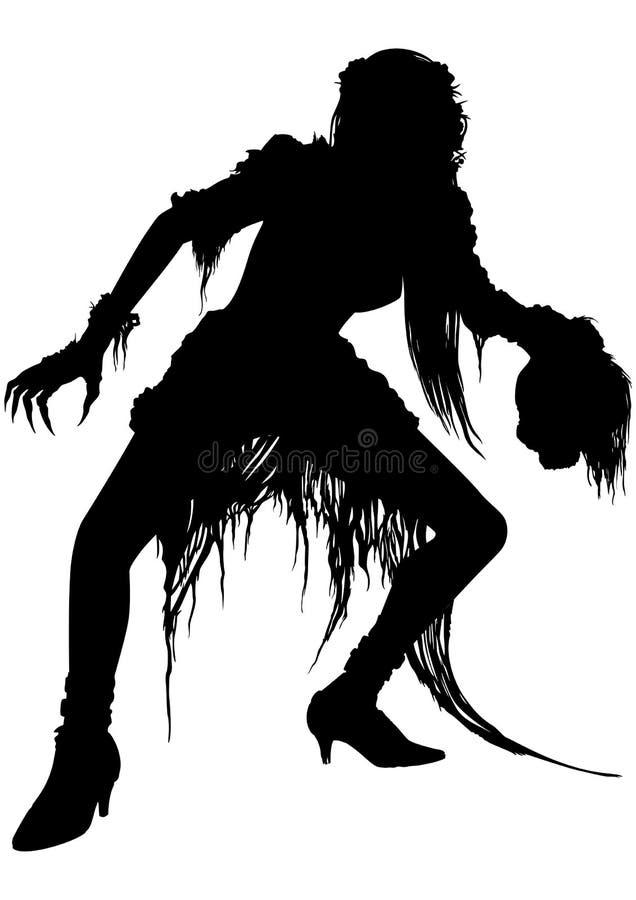 Siluetta della sposa del vampiro immagini stock