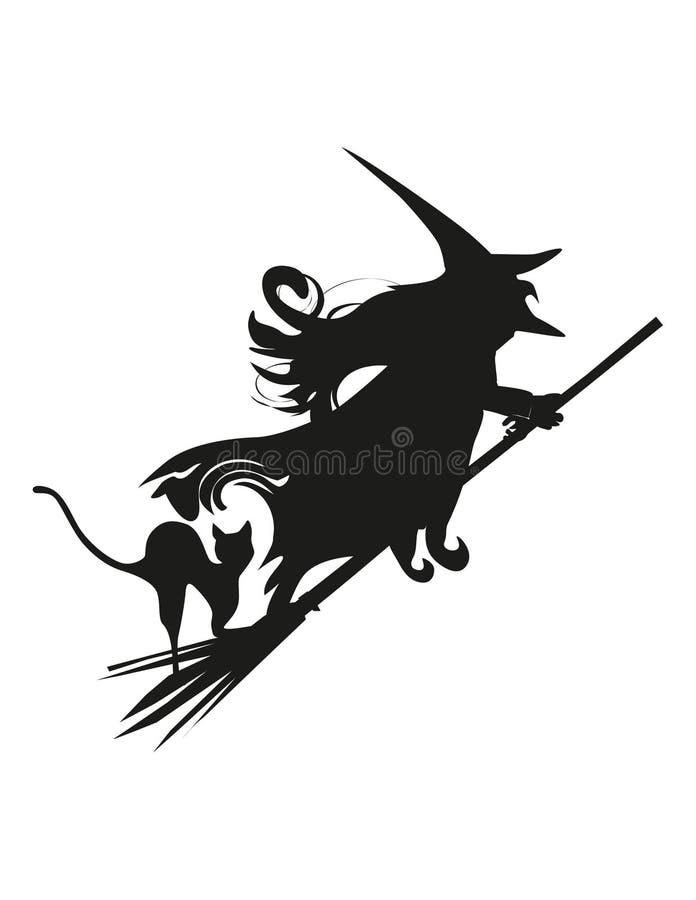 Siluetta della strega royalty illustrazione gratis