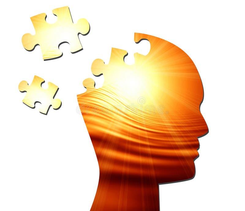 Siluetta della testa umana illustrazione di stock