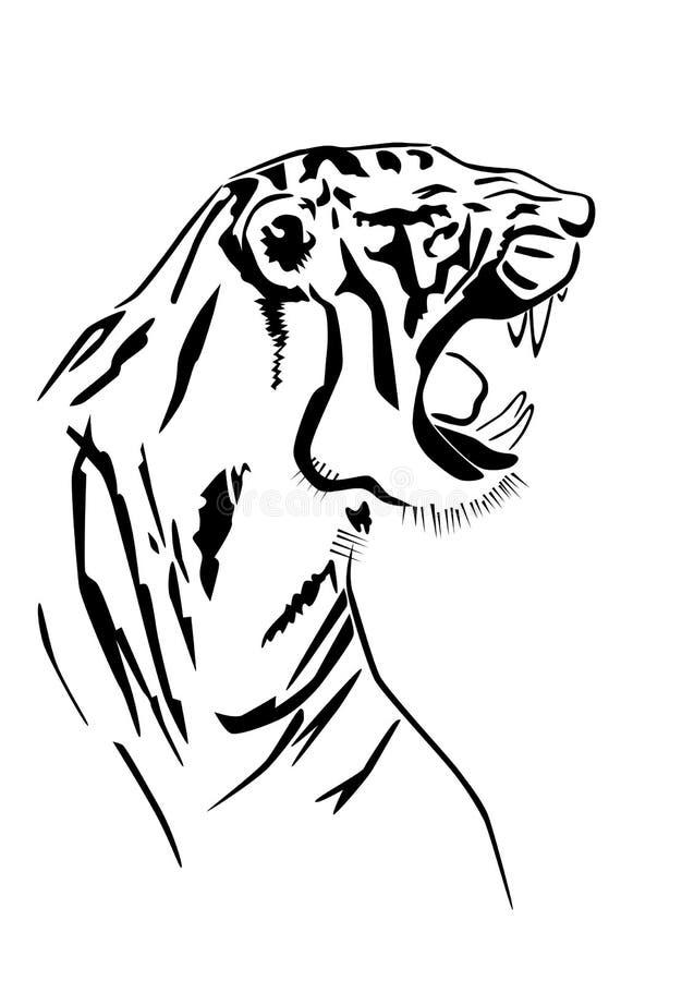Siluetta della tigre nel profilo royalty illustrazione gratis