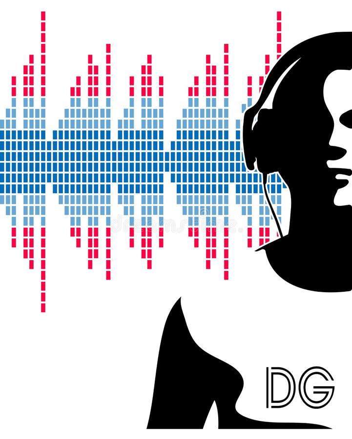 Download Siluetta Delle Cuffie D'uso Del DJ Illustrazione Vettoriale - Illustrazione di discotheque, randello: 55360591