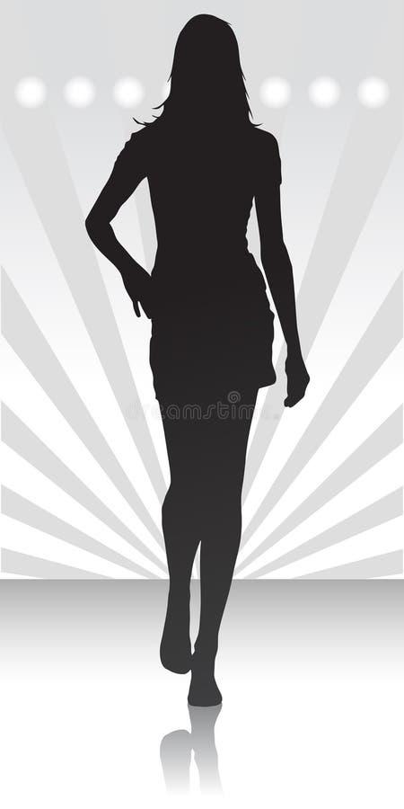 Siluetta delle donne royalty illustrazione gratis