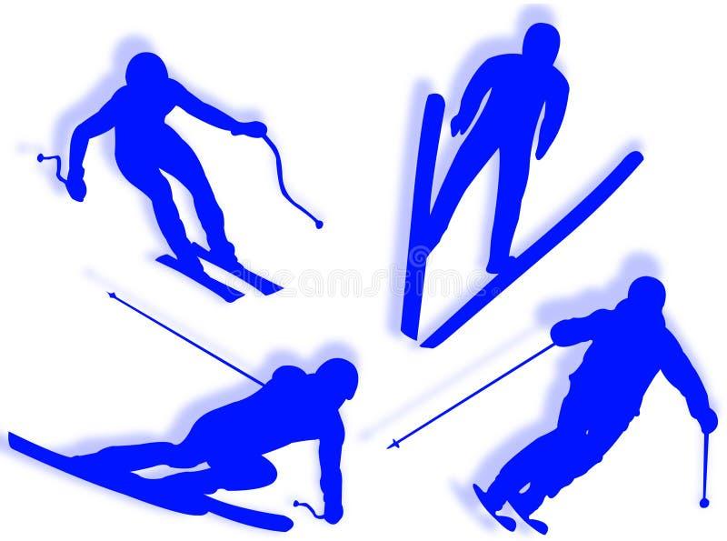 Download Siluetta dello sciatore illustrazione di stock. Illustrazione di salto - 7310673