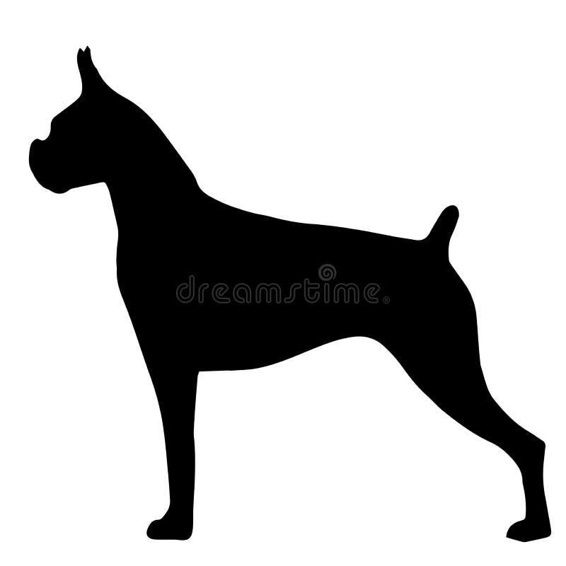 Siluetta di alta qualità del bulldog isolato su bianco illustrazione di stock