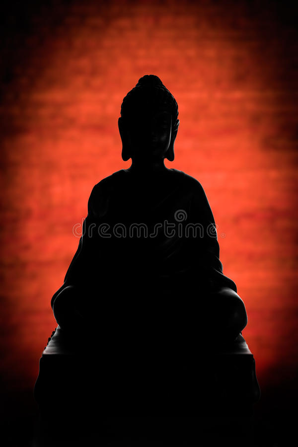 Siluetta di Buddha immagine stock libera da diritti