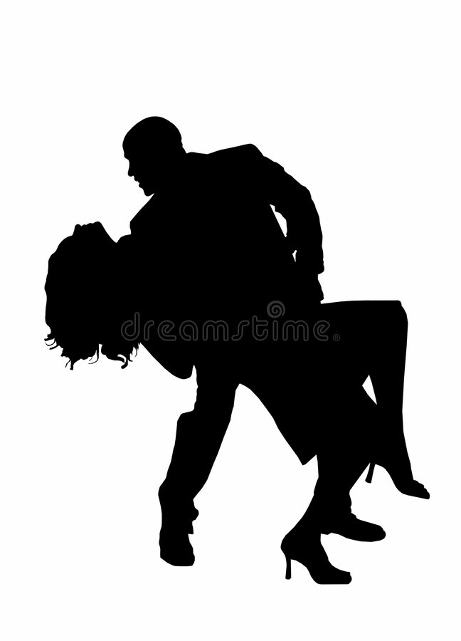 Siluetta di Dancing royalty illustrazione gratis