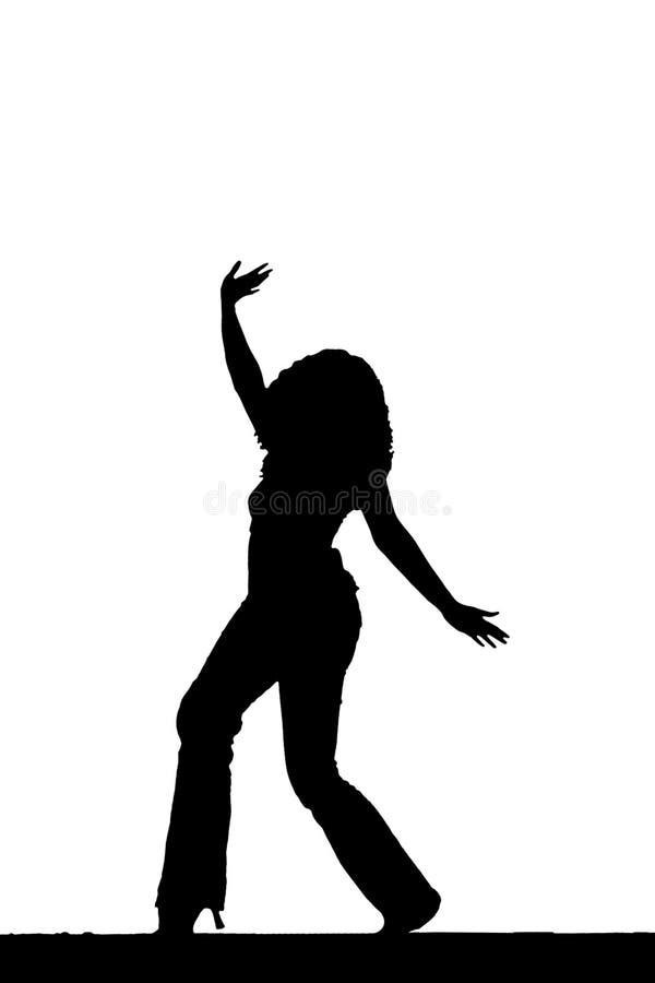 Siluetta di Dancing illustrazione vettoriale