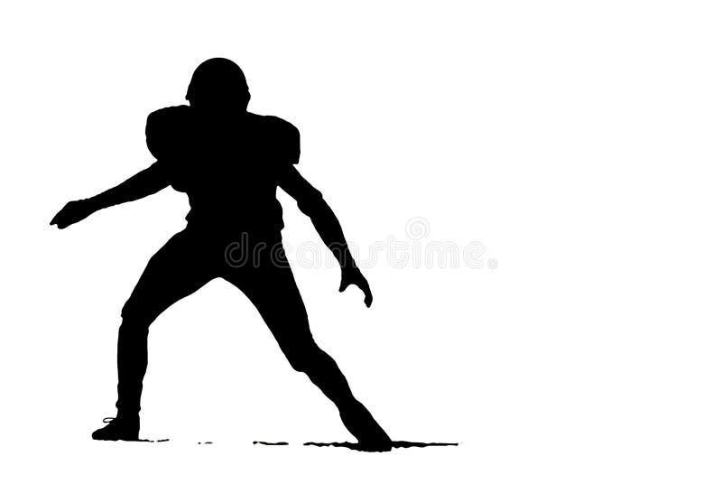 Siluetta di gioco del calcio illustrazione di stock