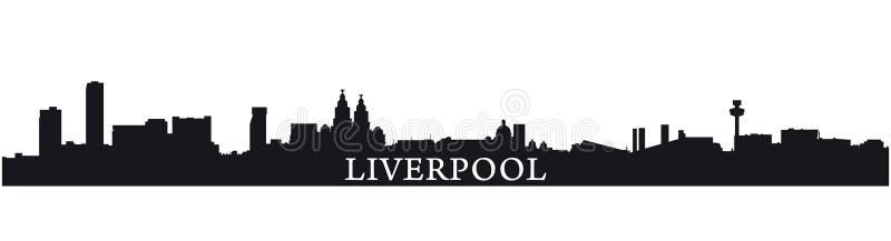 Siluetta di Liverpool illustrazione di stock