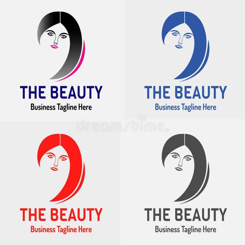 Siluetta di Logo Vector della ragazza di bellezza royalty illustrazione gratis