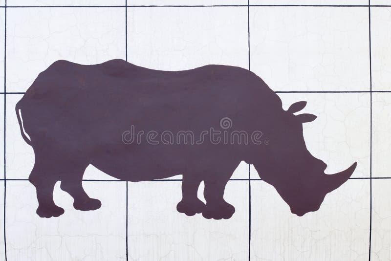 Siluetta di rinoceronte immagini stock libere da diritti