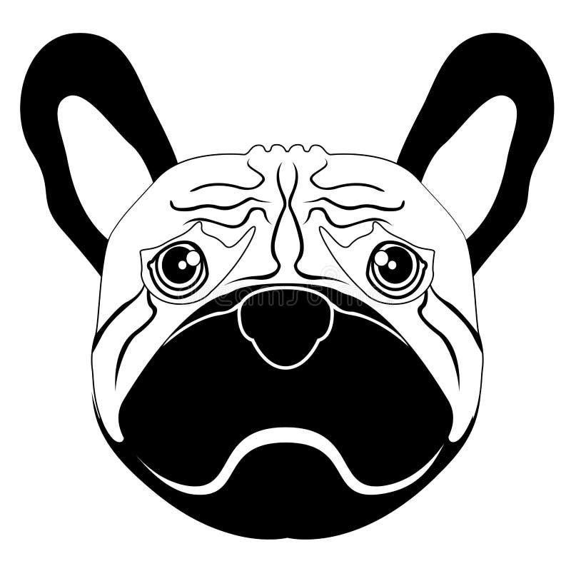 Siluetta di un avatar del pugile illustrazione di stock