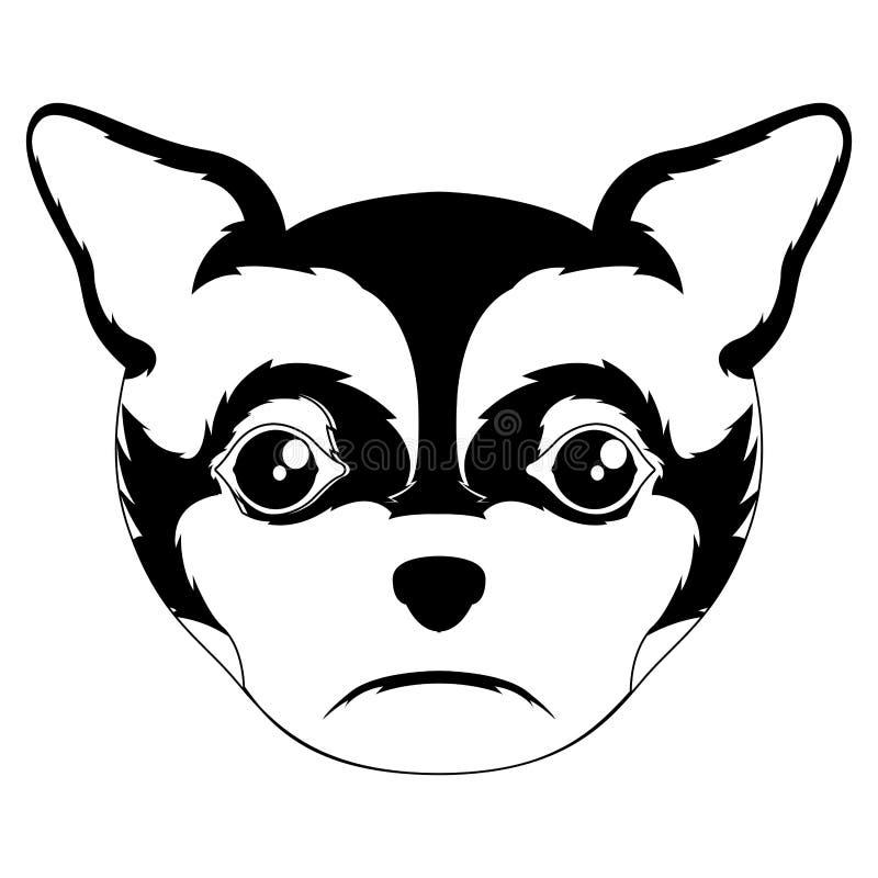 Siluetta di un avatar della chihuahua royalty illustrazione gratis
