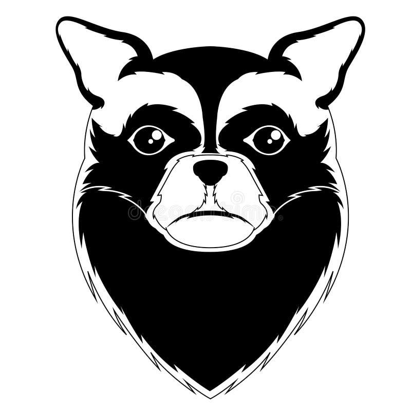 Siluetta di un avatar lungo della chihuahua dei capelli royalty illustrazione gratis