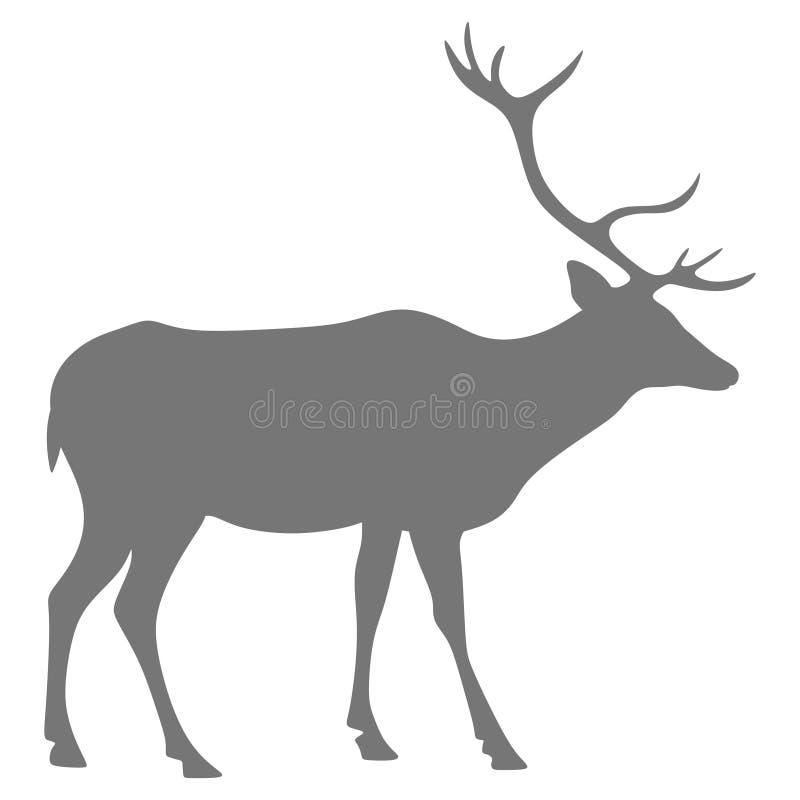 Siluetta di un cervo royalty illustrazione gratis