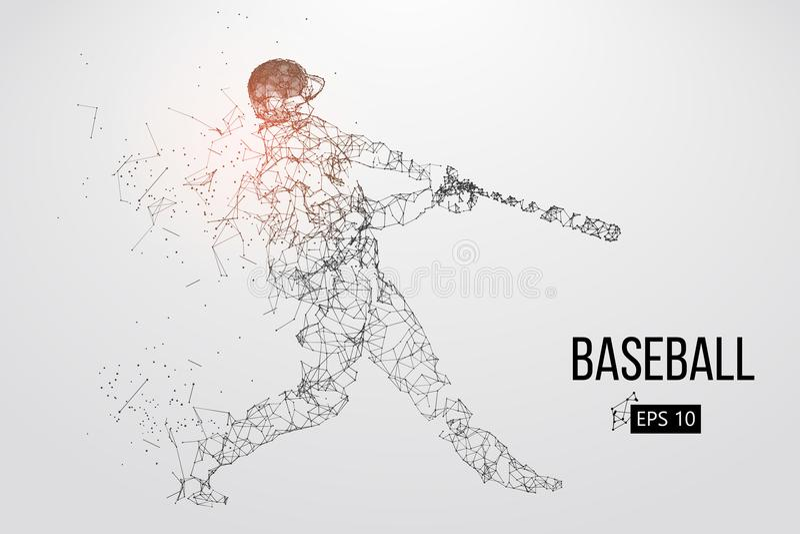 Siluetta di un giocatore di baseball Illustrazione di vettore