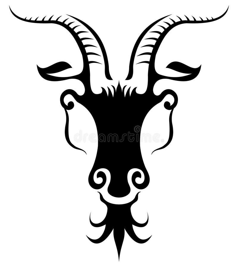 Siluetta di una capra fotografia stock libera da diritti
