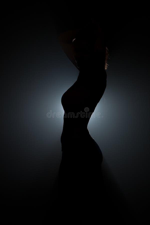 Siluetta di una donna fotografie stock