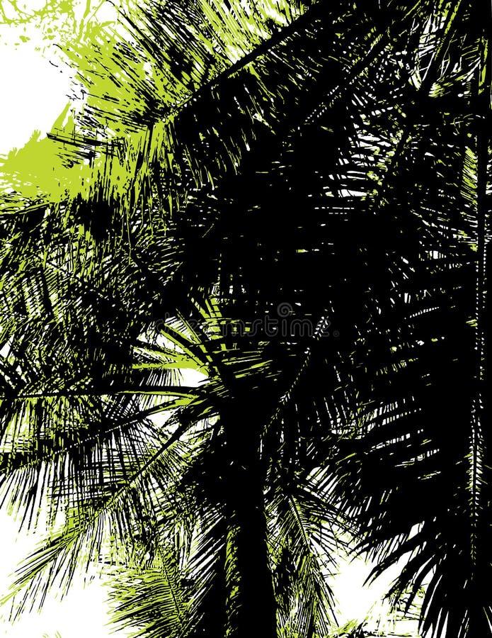 Siluetta di una palma. Vec illustrazione di stock