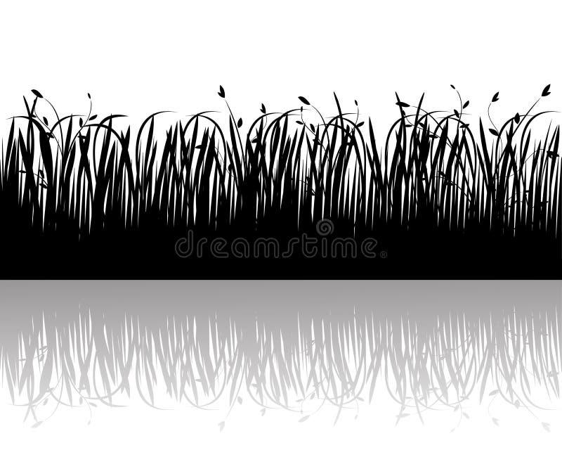 Siluetta di vettore dell'erba illustrazione vettoriale