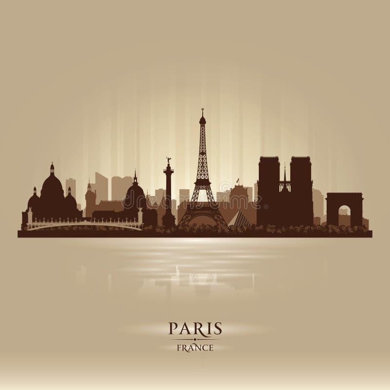Siluetta di vettore dell'orizzonte della città di Parigi Francia illustrazione di stock