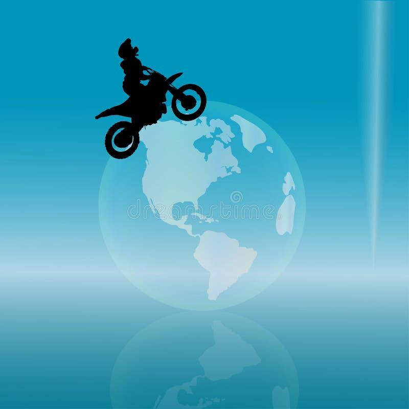 Siluetta di vettore di un motociclista illustrazione di stock