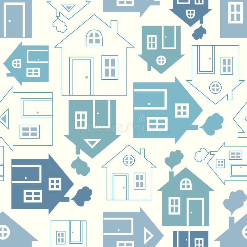 Siluetta dolce domestica della casa illustrazione di stock