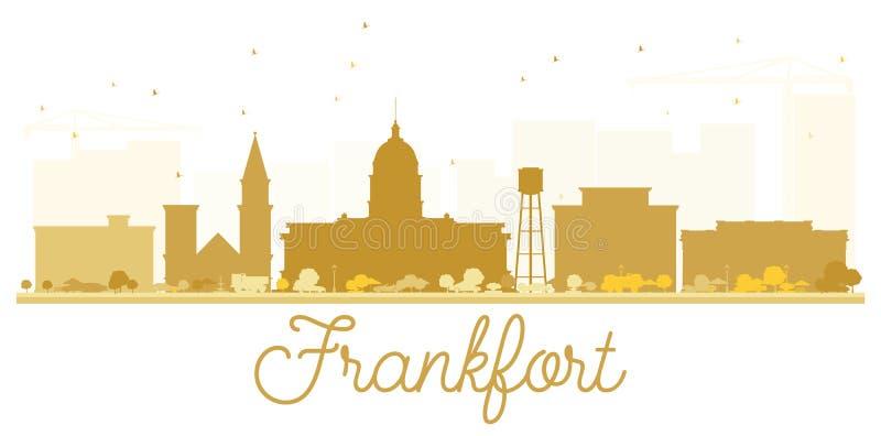 Siluetta dorata dell'orizzonte della città di frankfurter Illustrazione di vettore illustrazione di stock