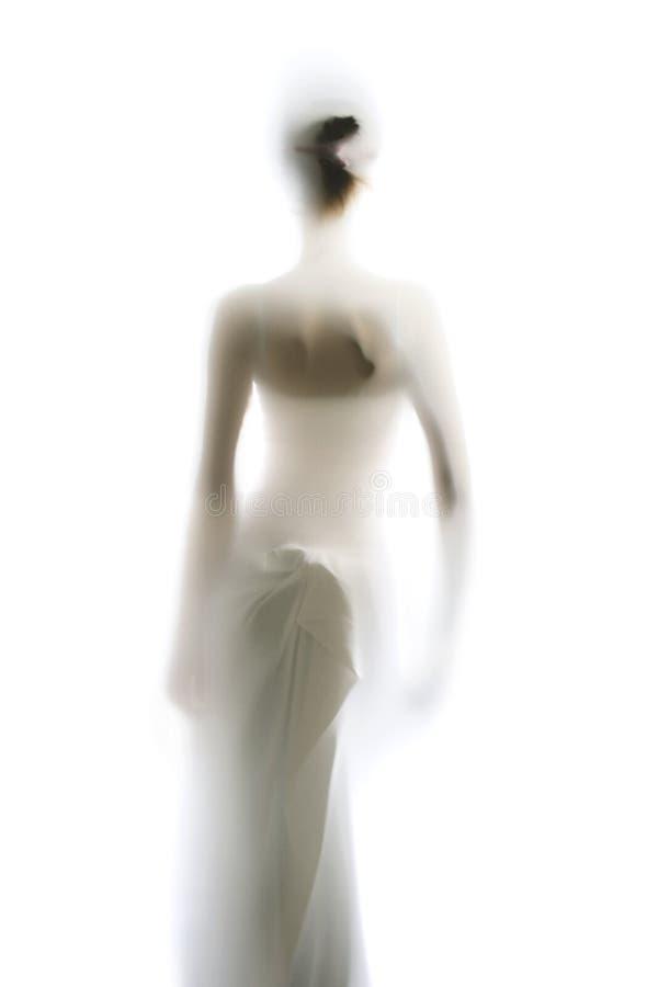 Siluetta femminile elegante fotografia stock libera da diritti