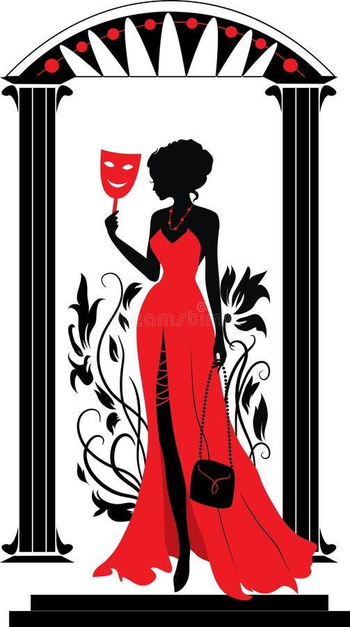 Siluetta grafica di una donna. Serie di Isabelle royalty illustrazione gratis