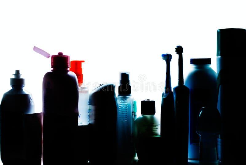 Siluetta II dell'armadietto di stanza da bagno immagine stock
