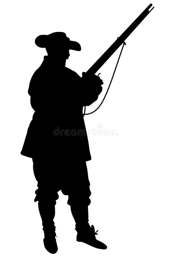 Soldato confederato illustrazione vettoriale