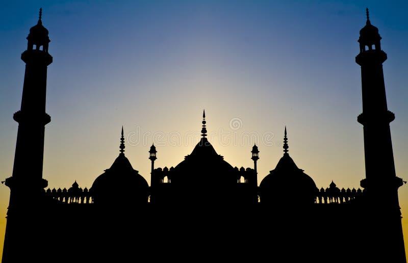 Siluetta islamica simmetrica di architettura fotografie stock libere da diritti