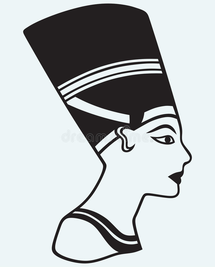 Siluetta Nefertiti illustrazione di stock