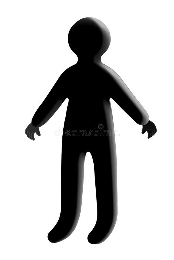 Siluetta/negazione umane illustrazione di stock