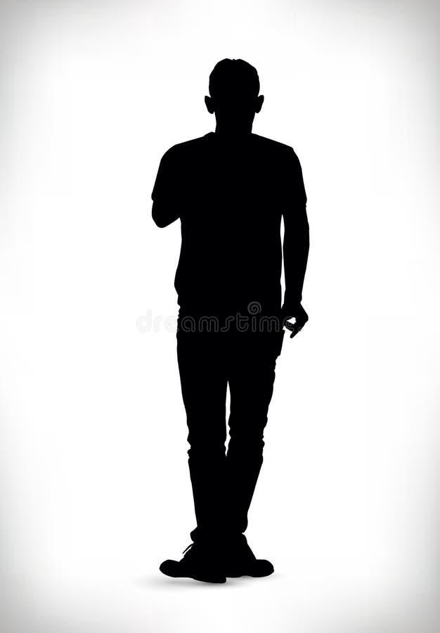 Download Siluetta Nera Di Un'illustrazione Di Vettore Dell'uomo Illustrazione Vettoriale - Illustrazione di vettore, bandiera: 55362178