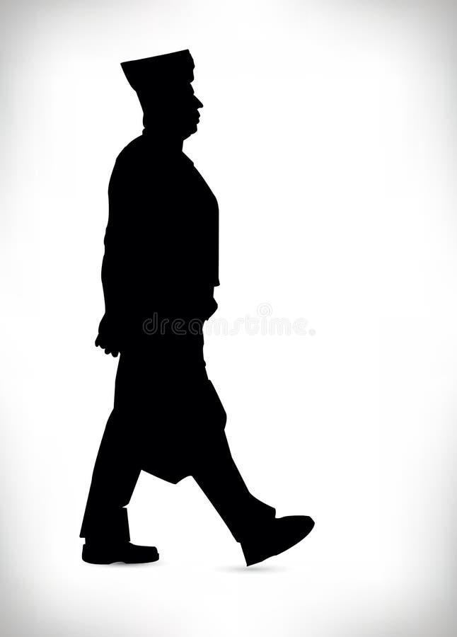 Download Siluetta Nera Di Un'illustrazione Di Vettore Dell'uomo Della Polizia Illustrazione Vettoriale - Illustrazione di persona, immagine: 55362227