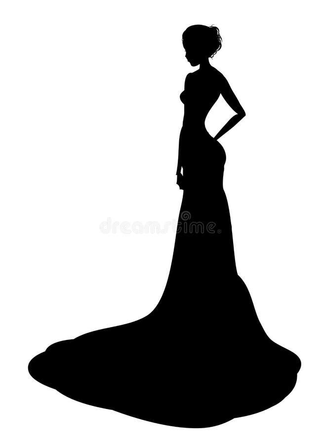 Siluetta nobile della signora illustrazione di stock
