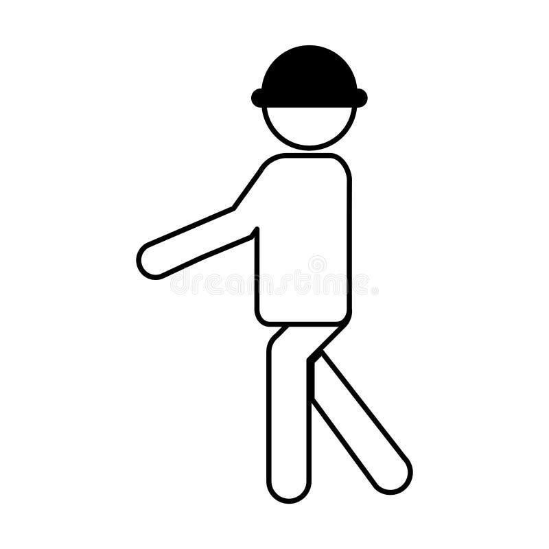 Siluetta professionale dell'avatar della costruzione illustrazione vettoriale