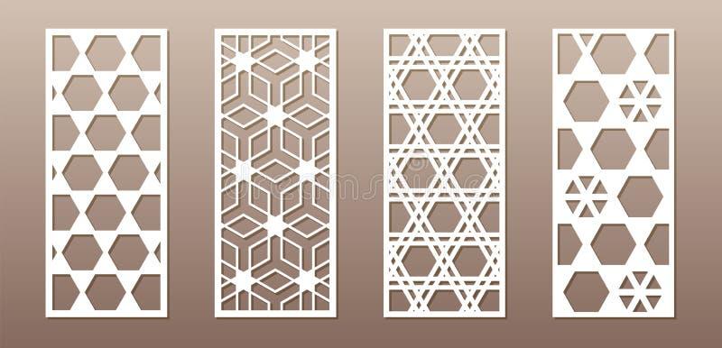 Siluetta trasparente con il modello arabo, modello geometrico del girih musulmano Disegno adatto a fondo, invito illustrazione vettoriale