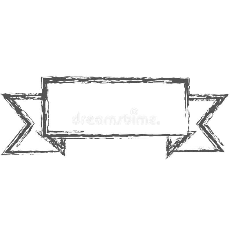 Siluetta vaga delle insegne rettangolari del confine dell'etichetta royalty illustrazione gratis