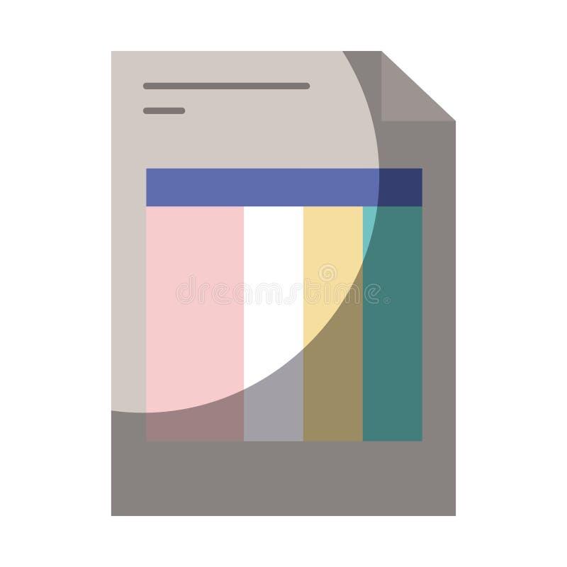 Siluetta variopinta della forma della fattura con mezza ombra illustrazione vettoriale