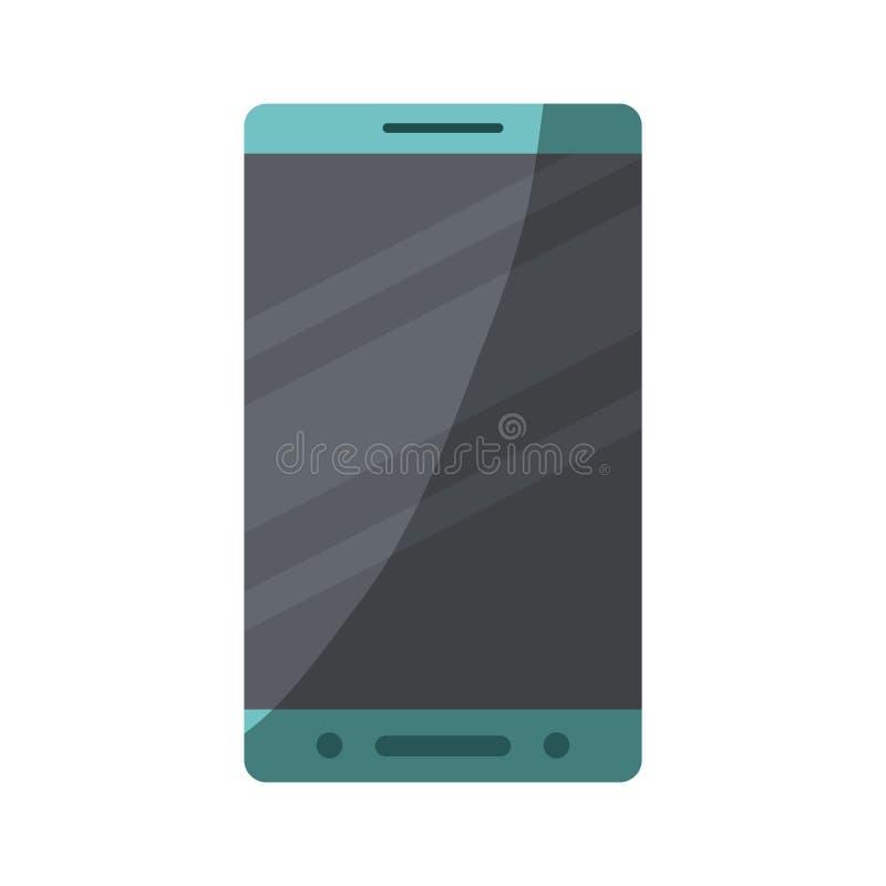 Siluetta variopinta dello smartphone con mezza ombra illustrazione vettoriale