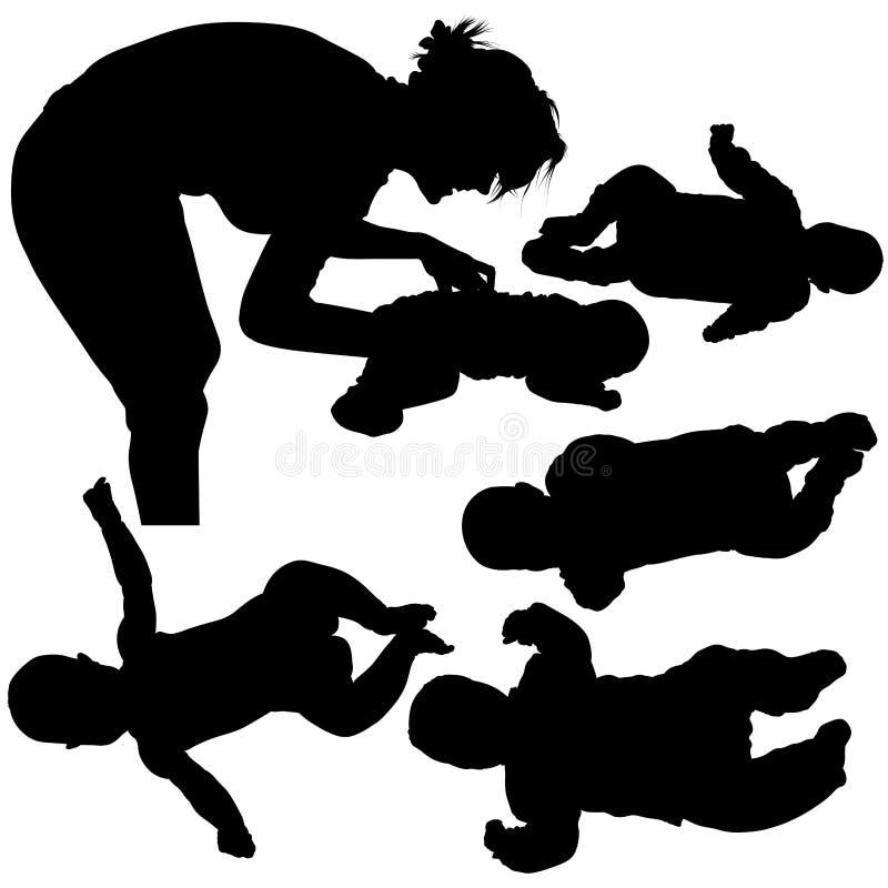 Siluette - bambino 1 illustrazione di stock