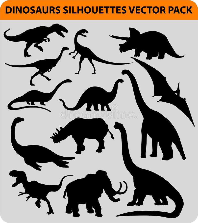 Siluette del dinosauro royalty illustrazione gratis