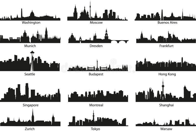 Siluette del mondo illustrazione vettoriale