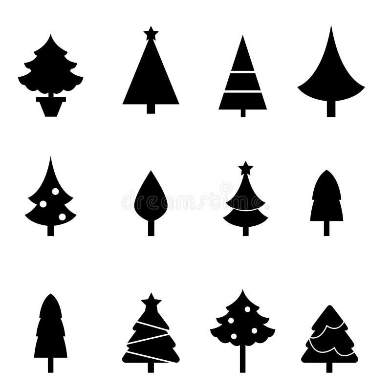 Siluette dell'albero di Natale royalty illustrazione gratis