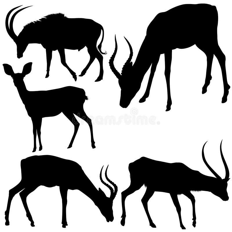 Siluette dell'antilope royalty illustrazione gratis